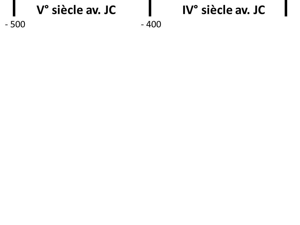 V° siècle av. JC IV° siècle av. JC
