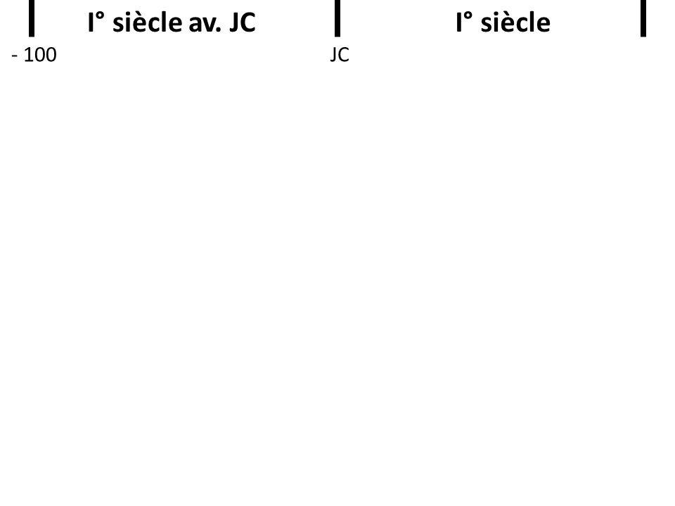 I° siècle av. JC I° siècle