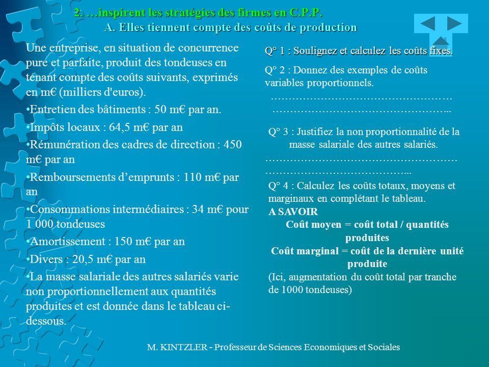 Entretien des bâtiments : 50 m€ par an. Impôts locaux : 64,5 m€ par an