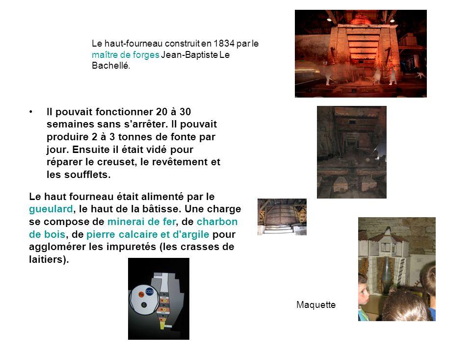 Le haut-fourneau construit en 1834 par le maître de forges Jean-Baptiste Le Bachellé.