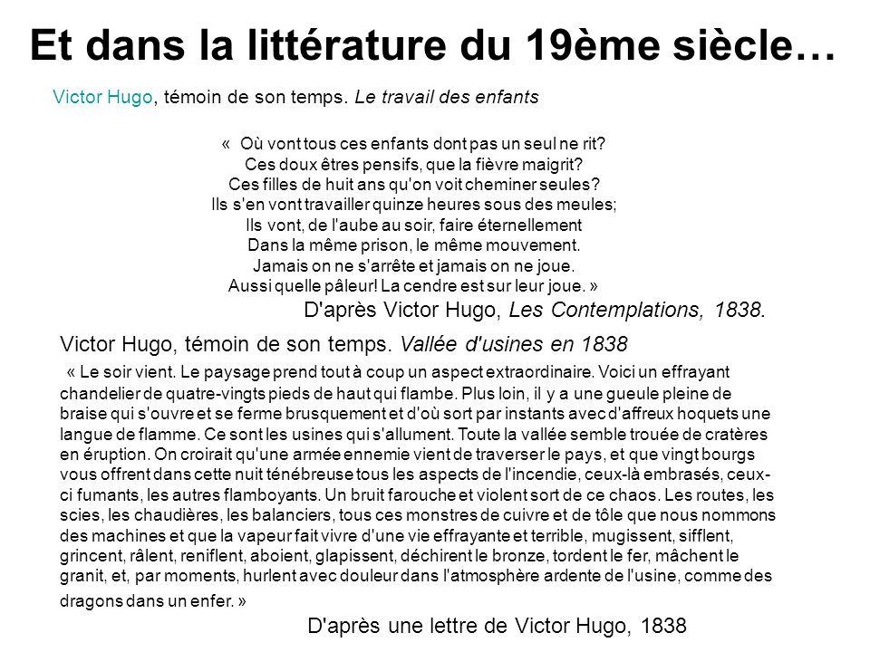 Et dans la littérature du 19ème siècle…