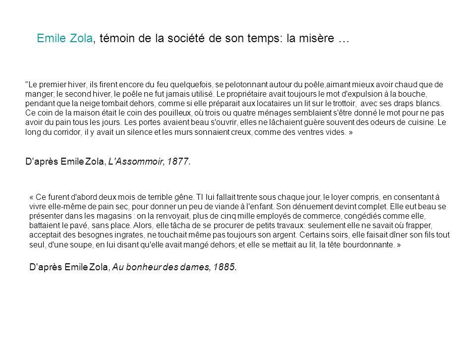 Emile Zola, témoin de la société de son temps: la misère …