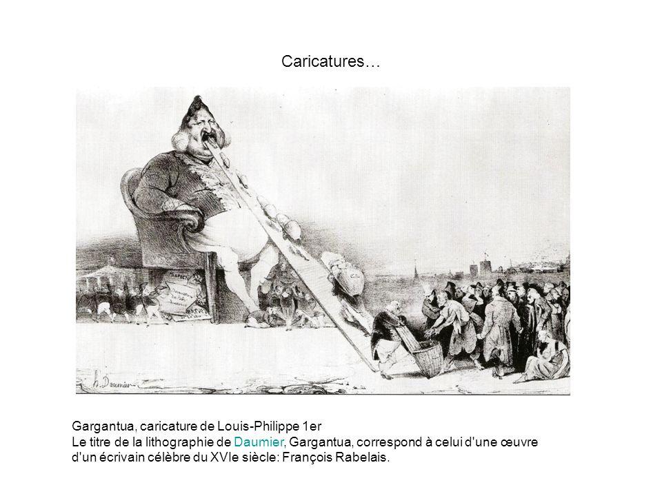 Caricatures… Gargantua, caricature de Louis-Philippe 1er