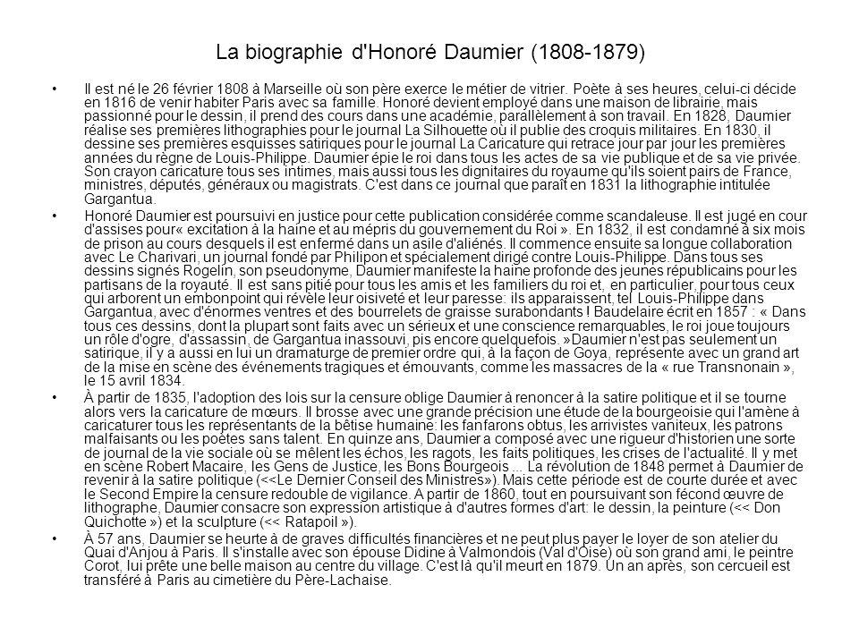 La biographie d Honoré Daumier (1808-1879)