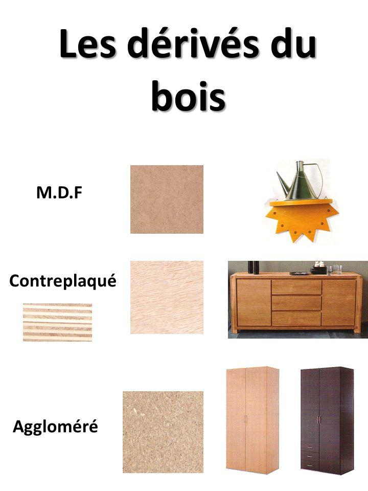 Les dérivés du bois M.D.F Contreplaqué Aggloméré