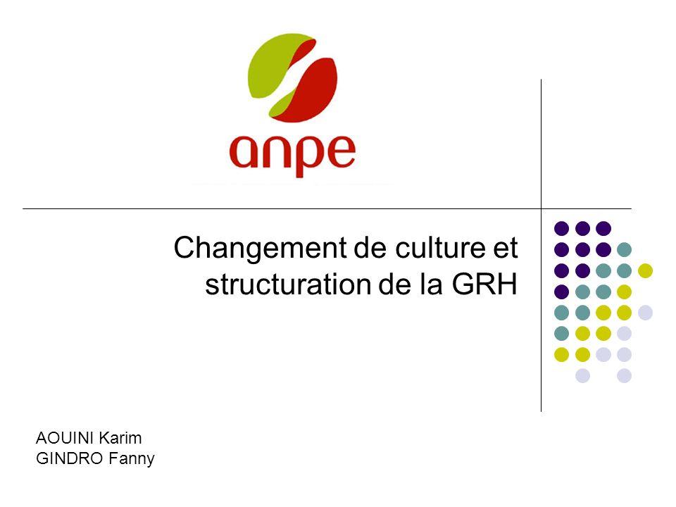 Changement de culture et structuration de la GRH