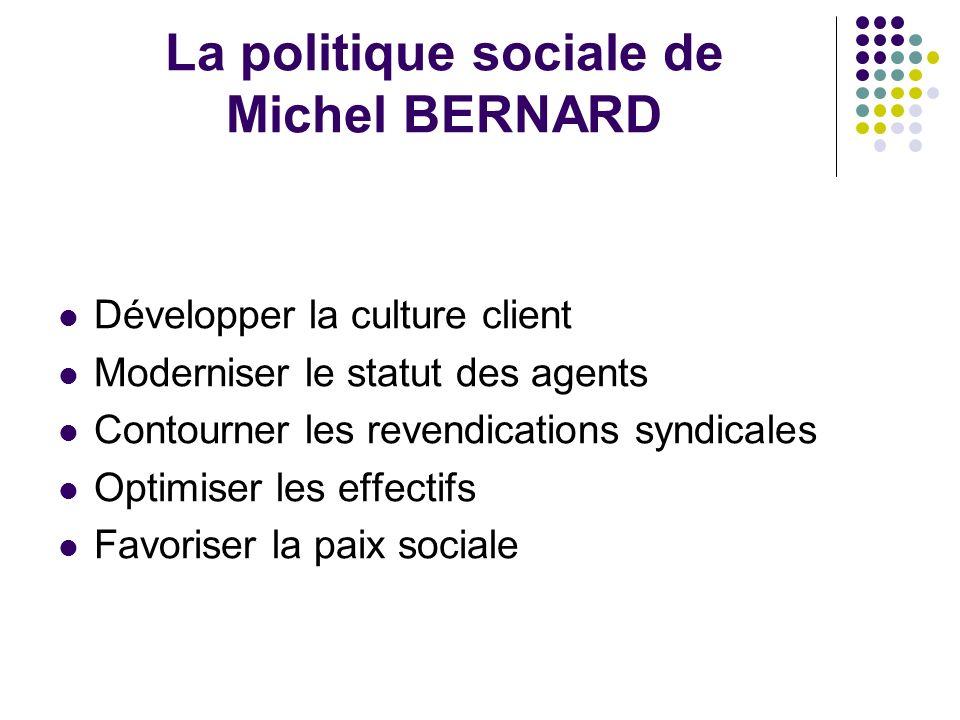 La politique sociale de Michel BERNARD