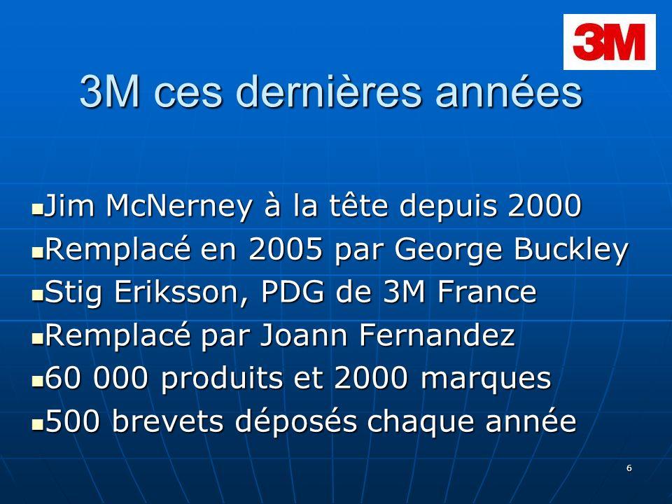 3M ces dernières années Jim McNerney à la tête depuis 2000