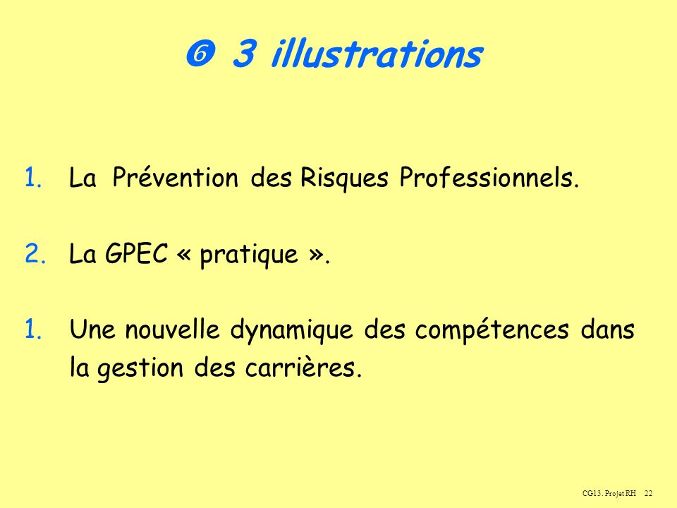  3 illustrations La Prévention des Risques Professionnels.