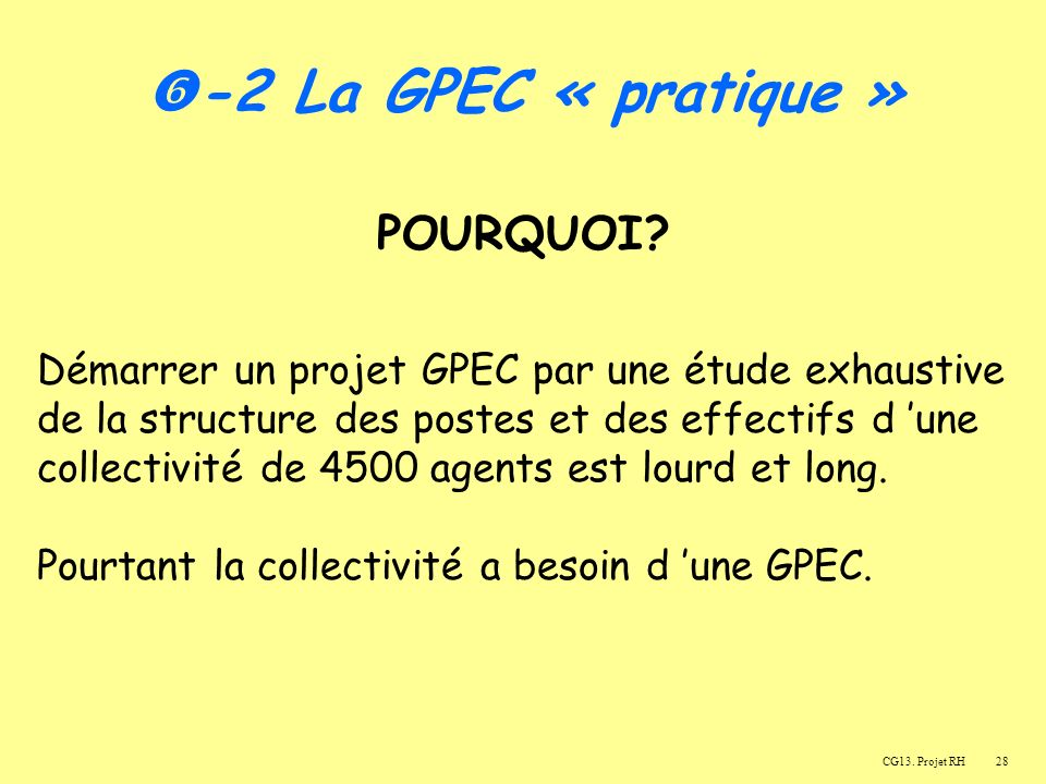 -2 La GPEC « pratique » POURQUOI