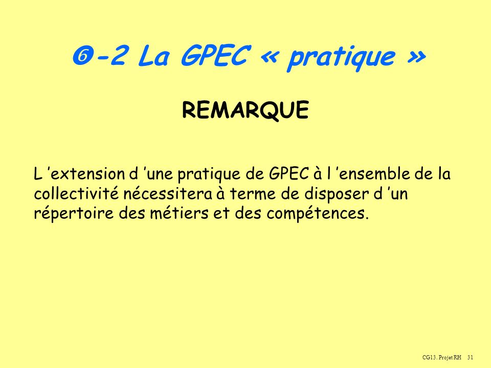 -2 La GPEC « pratique » REMARQUE