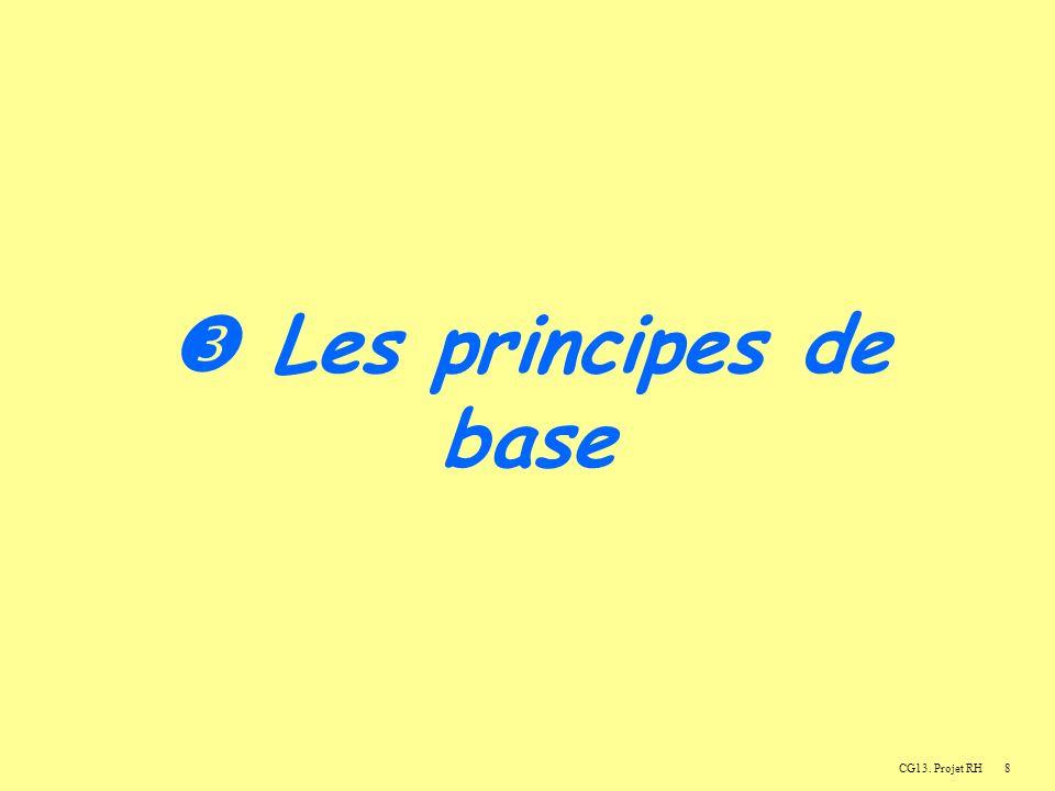  Les principes de base CG13. Projet RH