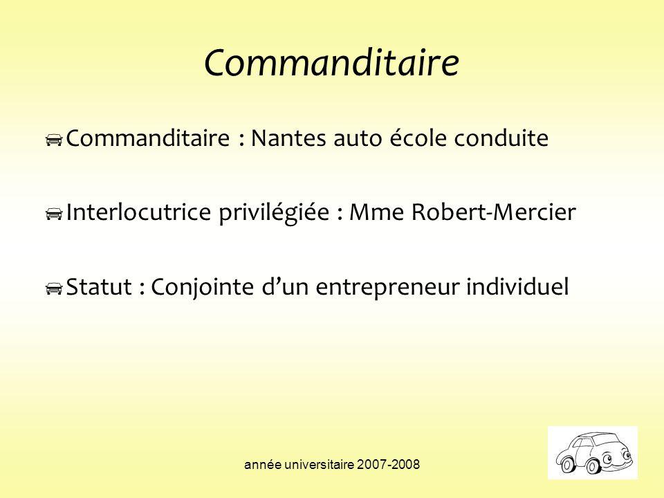 Commanditaire Commanditaire : Nantes auto école conduite