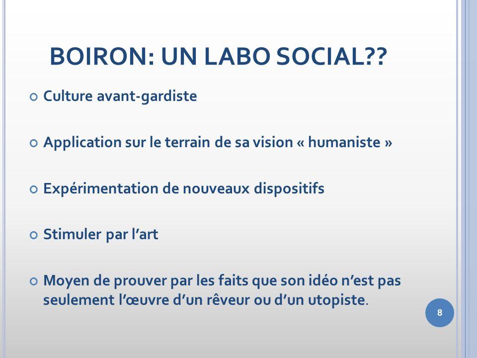 BOIRON: UN LABO SOCIAL Culture avant-gardiste