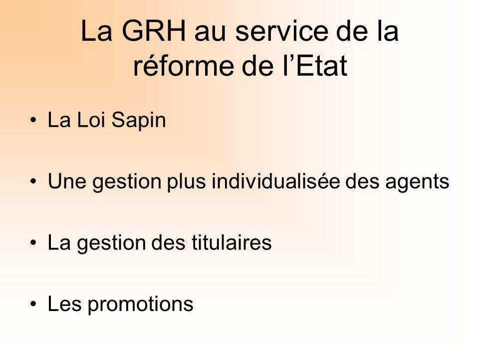 La GRH au service de la réforme de l'Etat