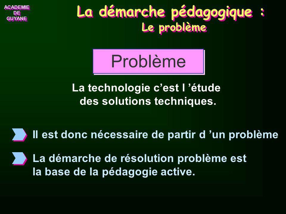 La démarche pédagogique : Le problème