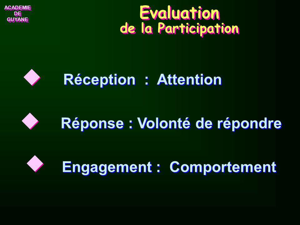 Evaluation de la Participation