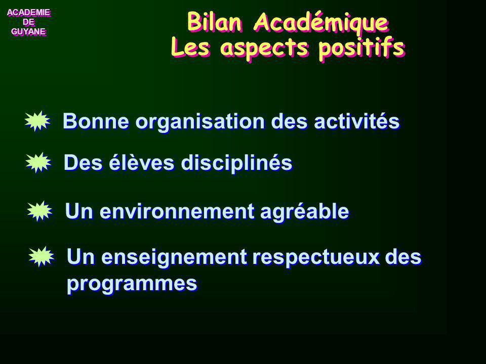 Bilan Académique Les aspects positifs