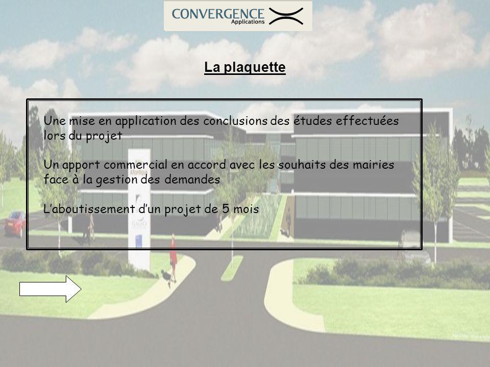 La plaquette Une mise en application des conclusions des études effectuées lors du projet.