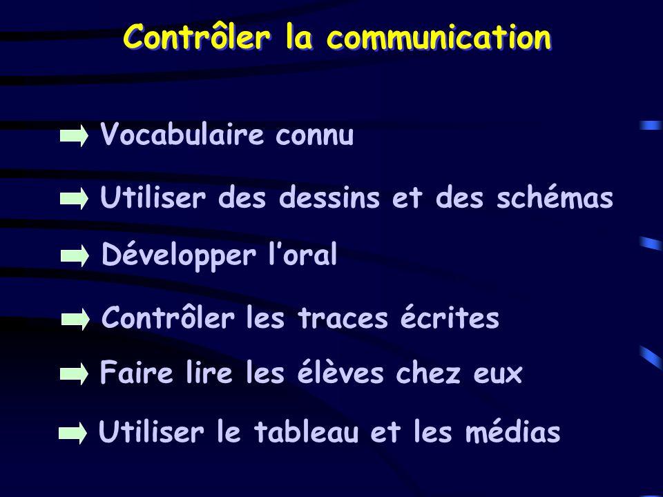 Contrôler la communication