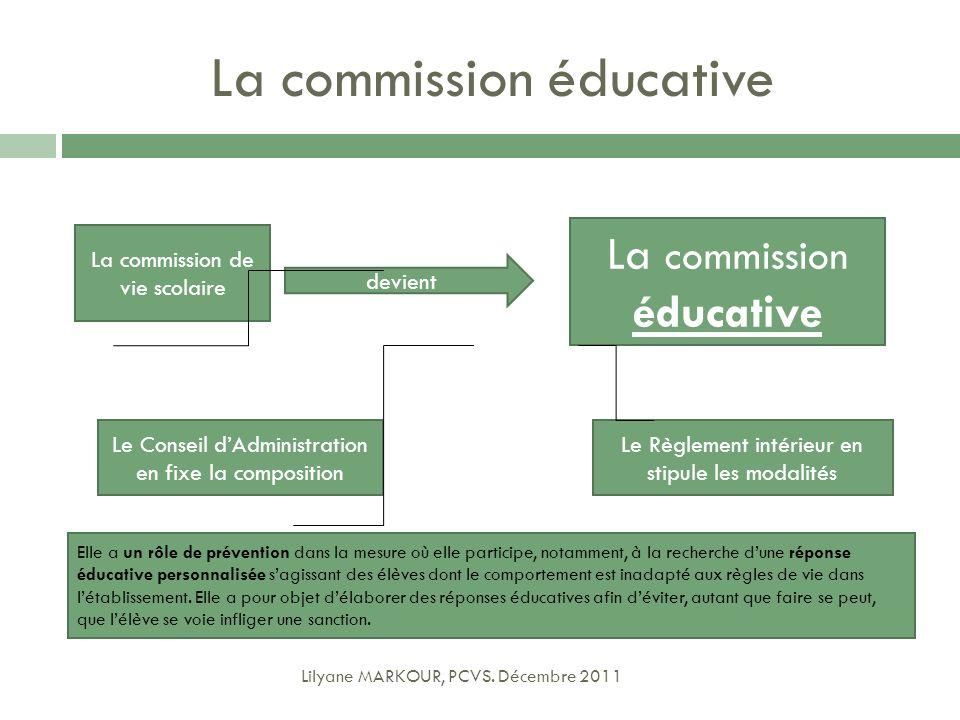 La commission éducative