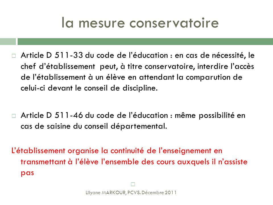 la mesure conservatoire