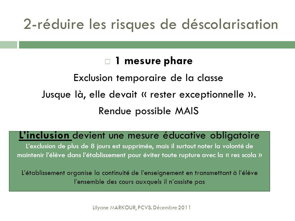2-réduire les risques de déscolarisation