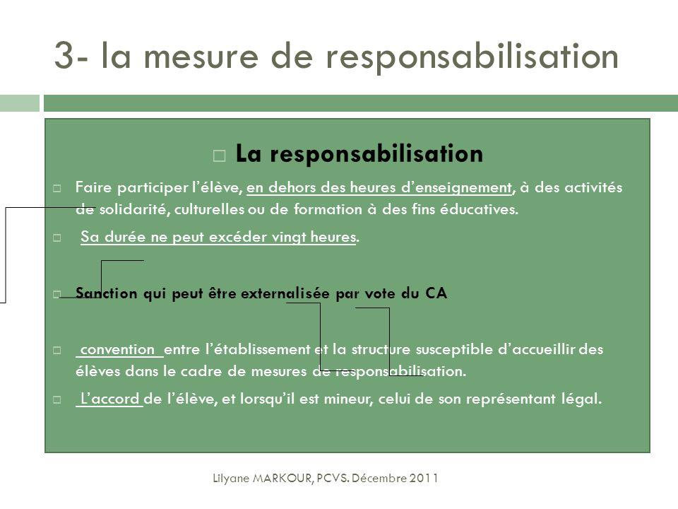 La responsabilisation