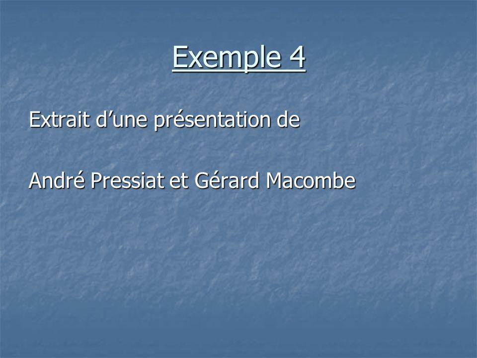 Exemple 4 Extrait d'une présentation de