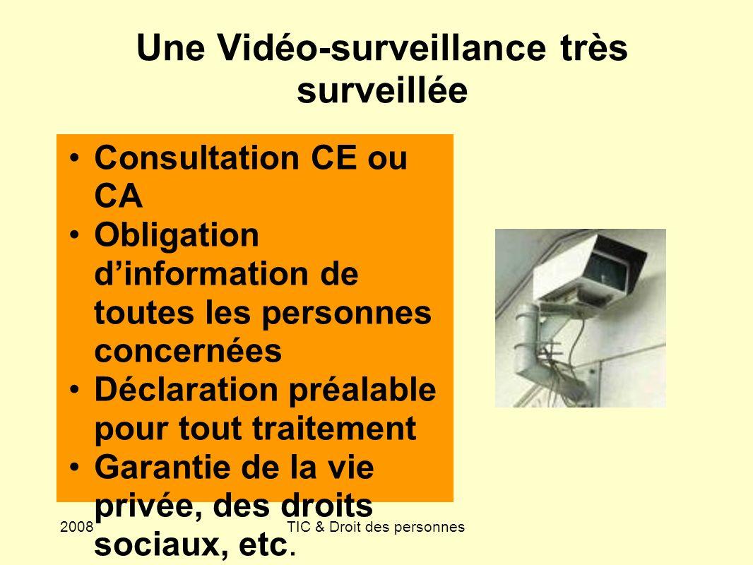 Une Vidéo-surveillance très surveillée