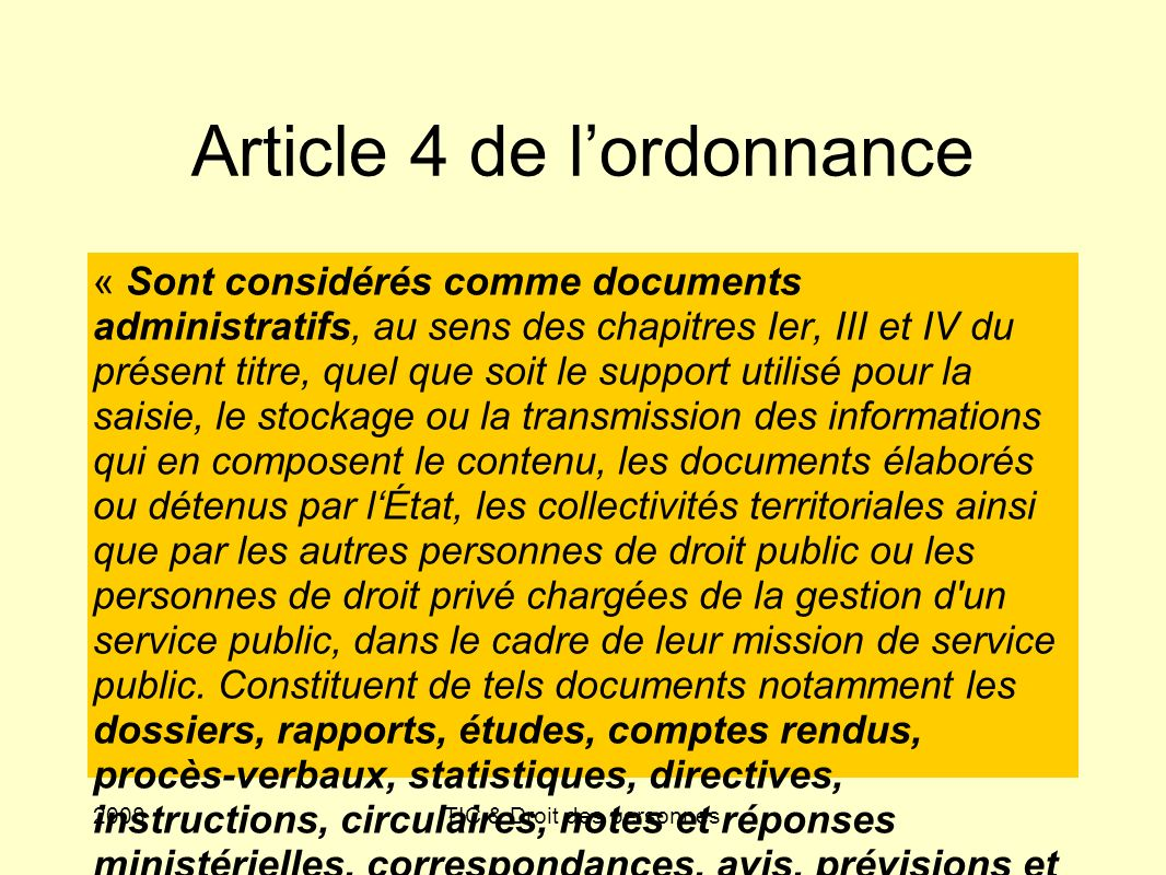 Article 4 de l'ordonnance
