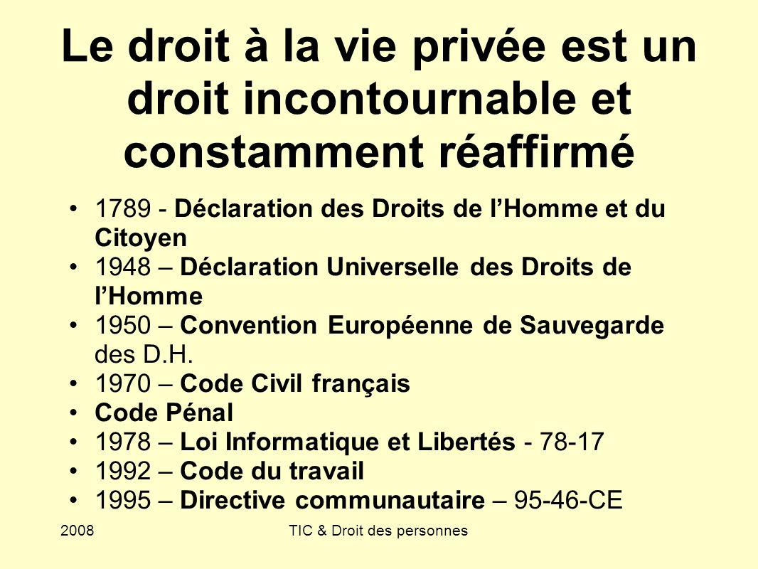 TIC & Droit des personnes