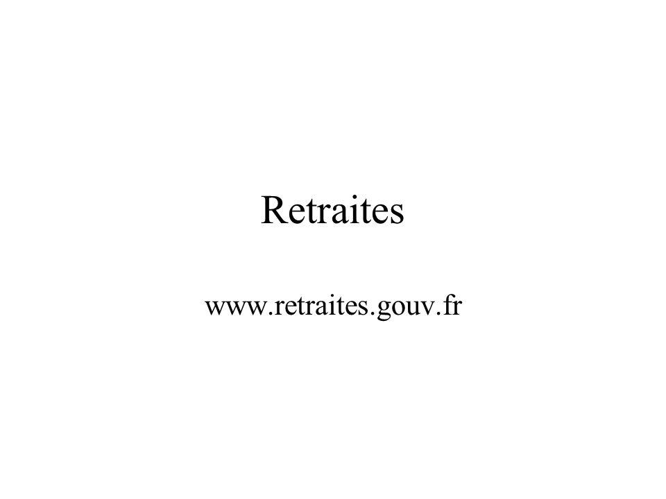 Retraites www.retraites.gouv.fr