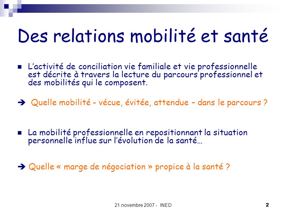 Des relations mobilité et santé