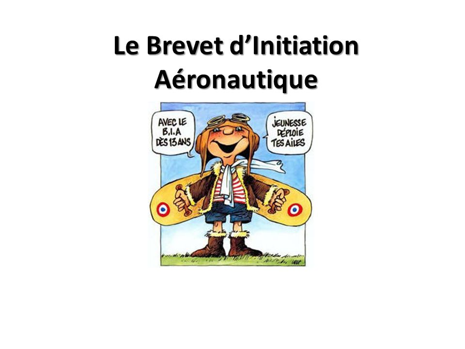 Le Brevet d'Initiation Aéronautique