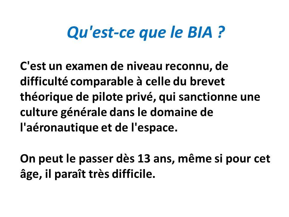Qu est-ce que le BIA