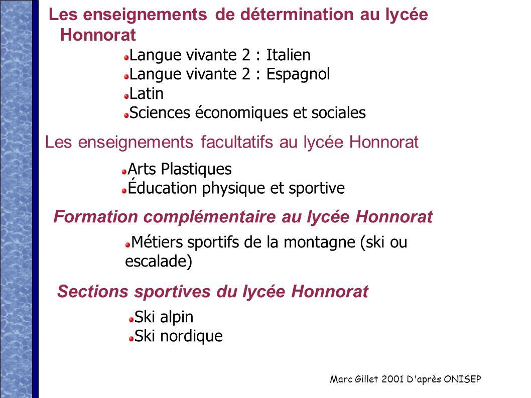 Les enseignements facultatifs au lycée Honnorat