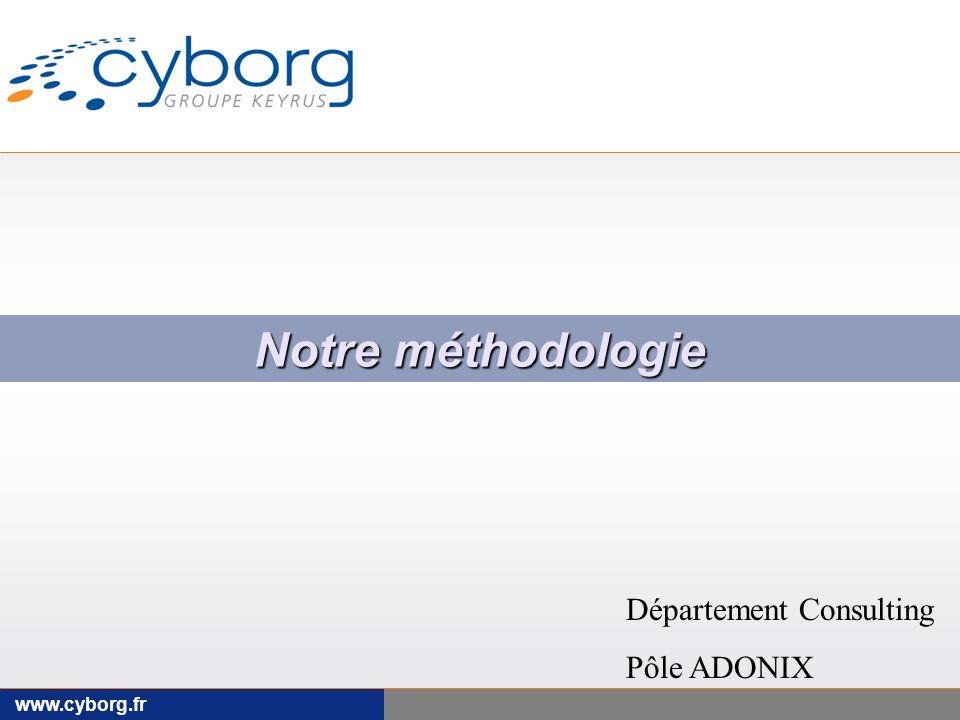 Notre méthodologie Département Consulting Pôle ADONIX www.cyborg.fr