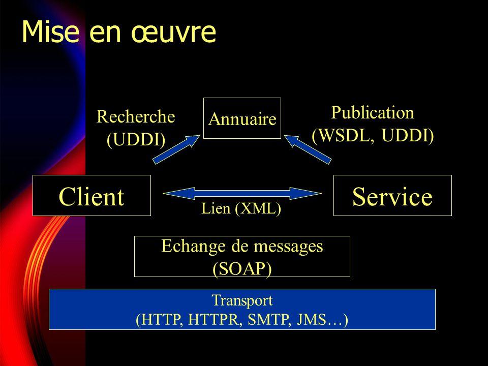 Mise en œuvre Client Service Publication Recherche Annuaire
