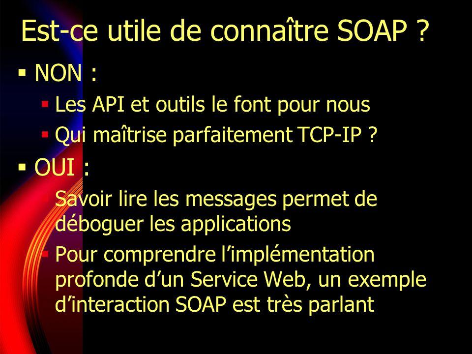 Est-ce utile de connaître SOAP