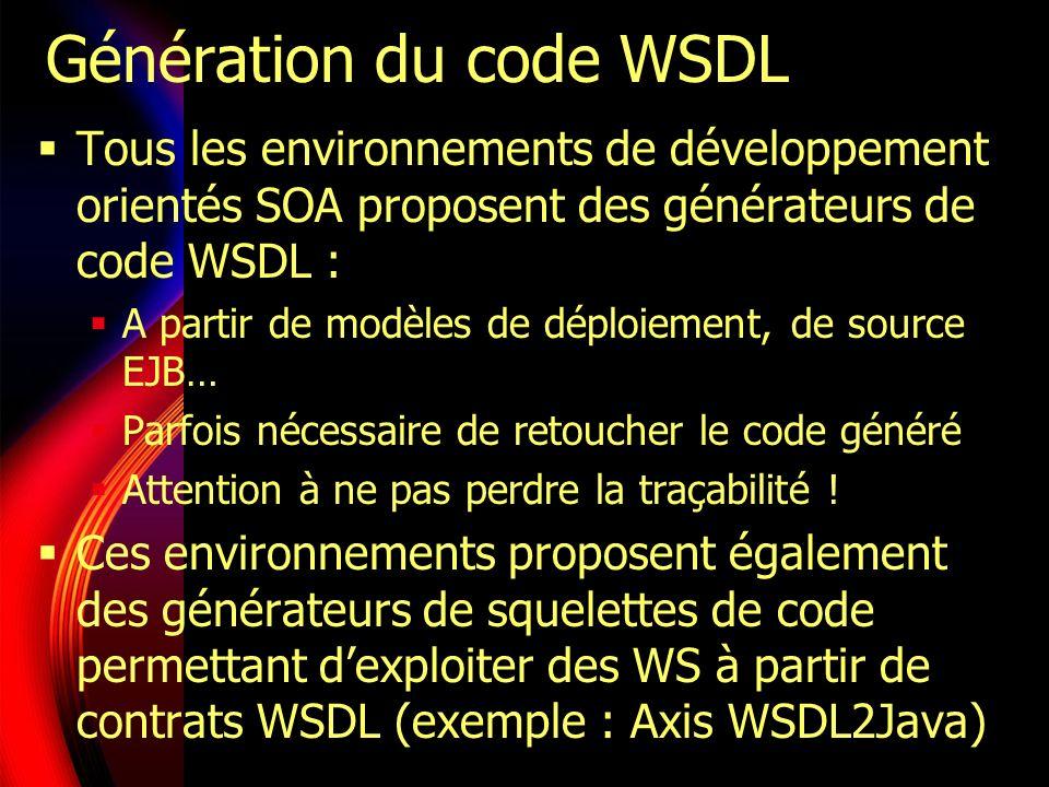 Génération du code WSDL