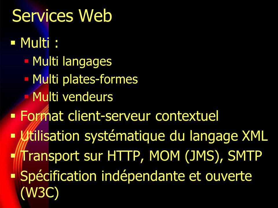 Services Web Multi : Format client-serveur contextuel