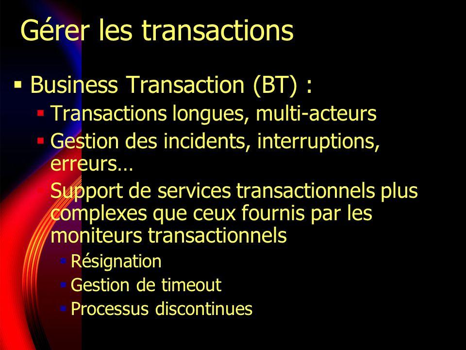 Gérer les transactions
