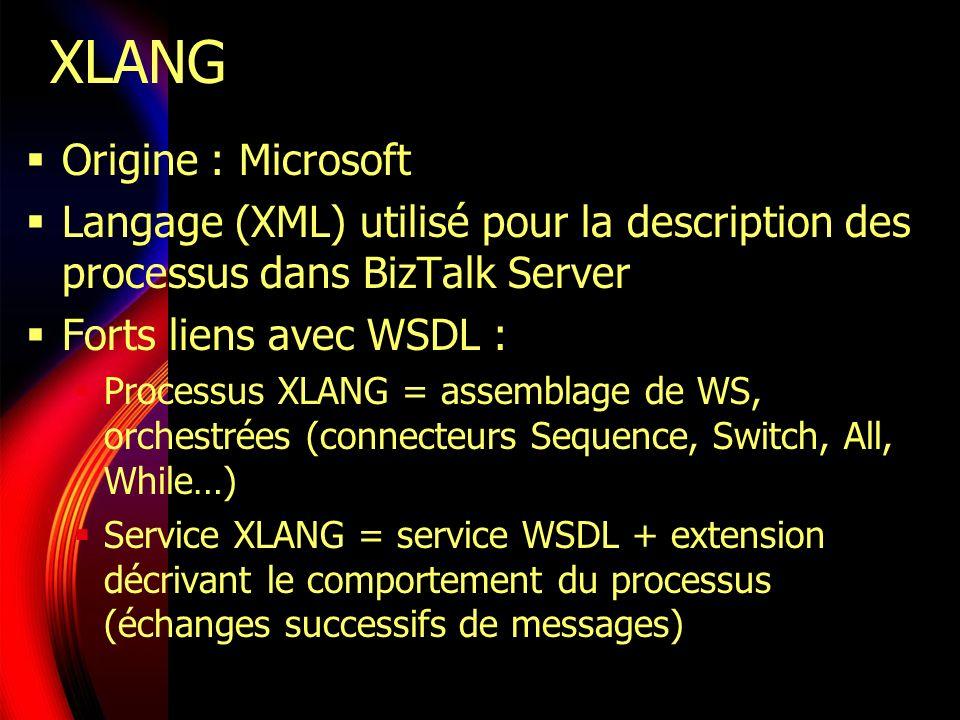 XLANG Origine : Microsoft