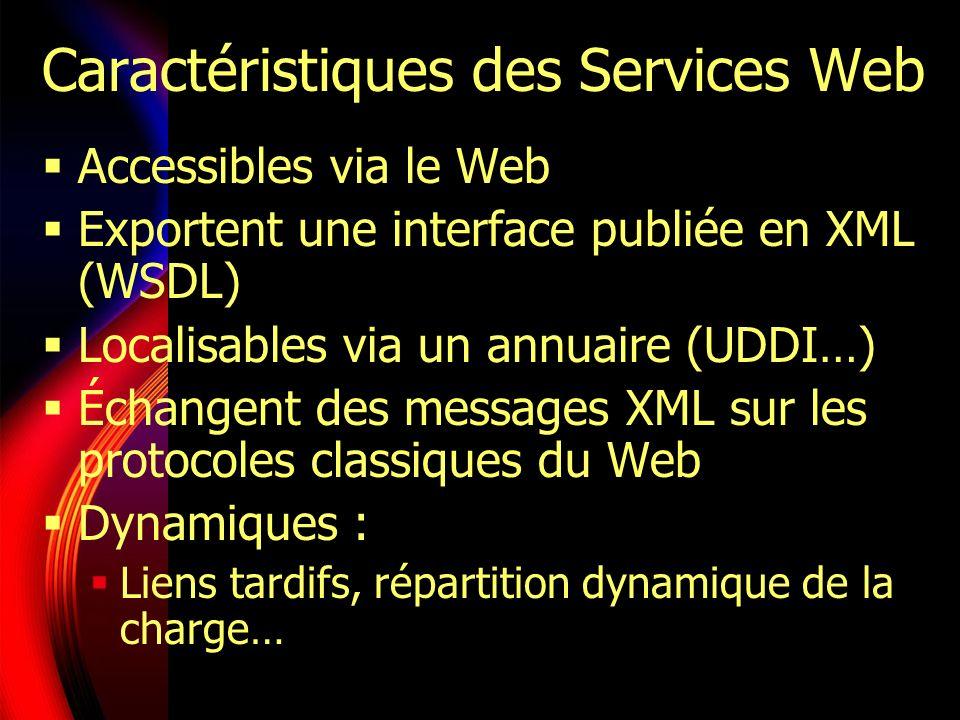 Caractéristiques des Services Web