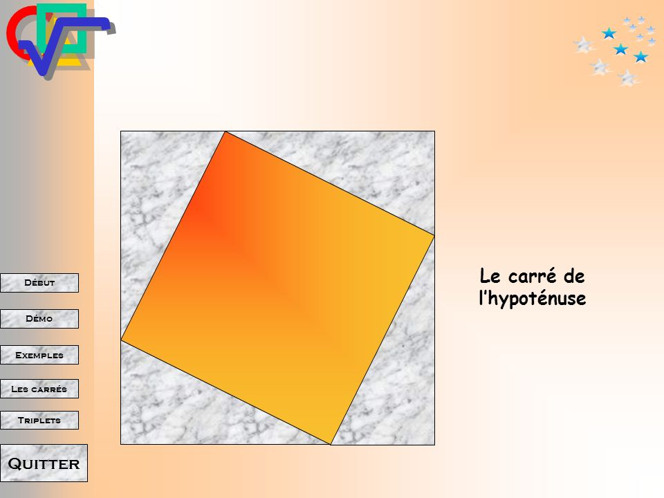 Le carré de l'hypoténuse