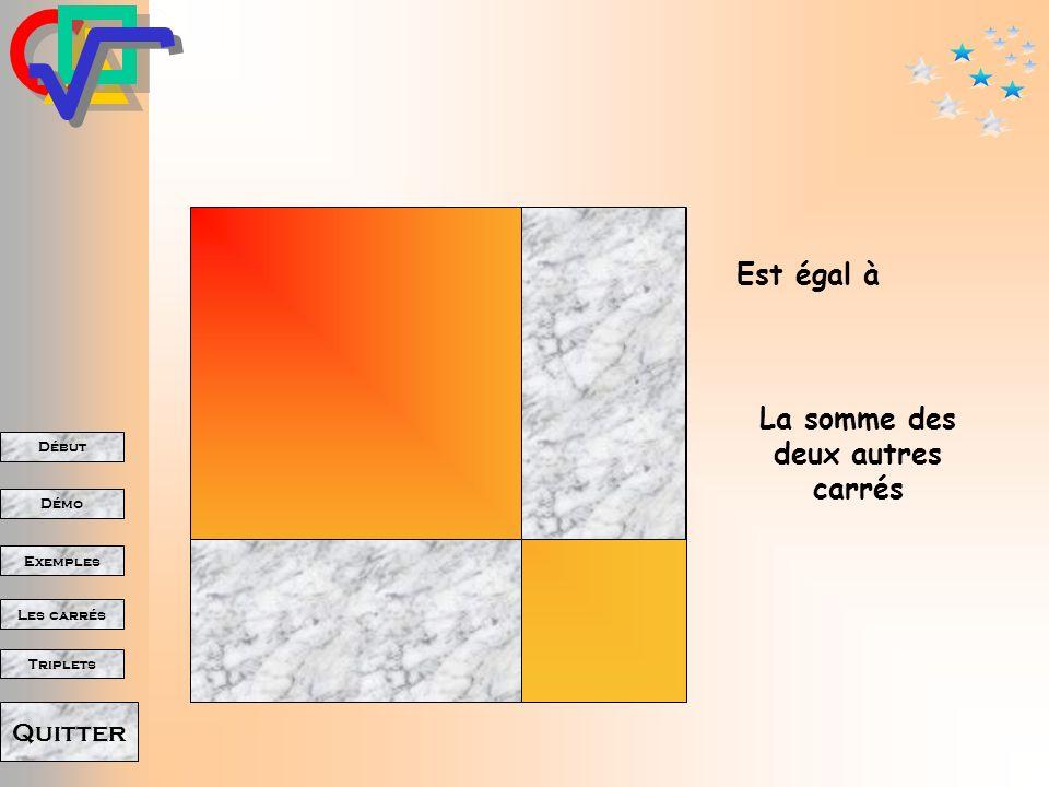 La somme des deux autres carrés