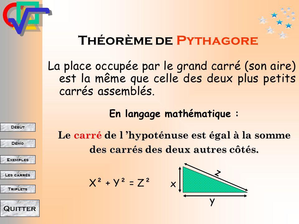 En langage mathématique :
