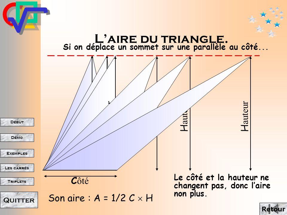 L'aire du triangle. Hauteur Hauteur Hauteur Hauteur Hauteur Hauteur