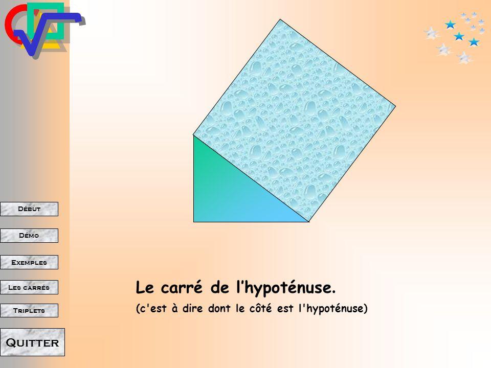 Le carré de l'hypoténuse.